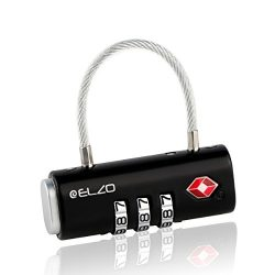 Elzo TSA Approved Luggage Locks – Easy Read Dials and Alloy Body (1, 2 & 4 Pack)