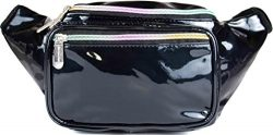 SoJourner Festival Fanny Pack – Galaxy, Rave, Holographic (Glitter – Black)