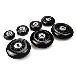 B.LeekS Luggage Suitcase Wheels with ABEC 608zz Bearings, Inline Outdoor Skate Replacement Wheel ...