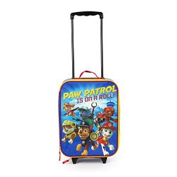 Paw Patrol 16″ Paw Patrol on a Roll Pilot Case Rolling Luggage or Backpack