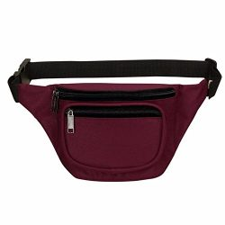 Fanny Pack, BuyAgain Quick Release Buckle Travel Sport Waist Fanny Pack Bag – Burgundy