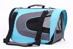 LUXEHOME Soft Sided Travel Pet Carrier Duffle Bags, Pet Travel Portable Bag Home for Dogs, Cats  ...