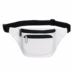 Fanny Pack, BuyAgain Quick Release Buckle Travel Sport Waist Fanny Pack Bag – White