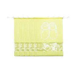 Tota Non-woven Shoe Bags Trip and luggage/seasonal Packing with Transparent Window with Draw Str ...