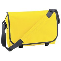 Bagbase Adjustable Messenger Bag (11 Liters) (One Size) (Yellow/Graphite Grey)