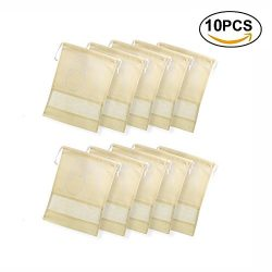 Dulcii Pack of 10 Non-woven Dust-proof Dual Drawstring Shoe Bags Organizer with Clear View Windo ...