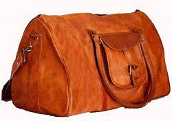 Shakun Leather New Vintage Travel Duffel Shoulder Weekend Bag, NEW