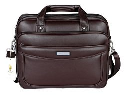 POLO VIDENG Leather Business Briefcase,Extended 15.6 inch Laptop Shoulder Bags Casual Travel Han ...