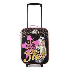 Girls Nickelodeon JoJo Siwa Black and Pink Stars Pilot Case Luggage