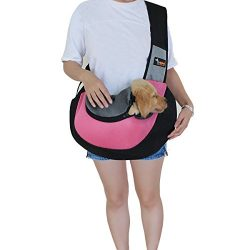 Pet Sling Carrier,Breathable Soft Pet Travel Tote Carrier Pet Sling Shoulder Carry Handbag,Desig ...