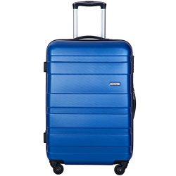 Merax MT Imagine Luggage Set 3 Piece Spinner Suitcase 20 24 28inch (Blue-28inch)