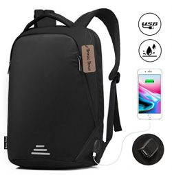 Bronze Times(TM) Anti-theft Business Travel Laptop Backpack with USB Charging Port, Water Resist ...