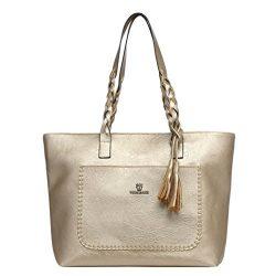 Gotd Womens Girls Handbag Leather Shoulder Bag Tassel Messenger Satchel Strap Messenger Tote on  ...