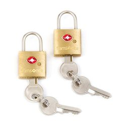 Samsonite 2 Pack Travel Sentry Key Lock, Brass, One Size
