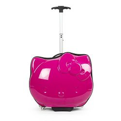 Hello Kitty Die Cut Head Abs Luggage, Pink
