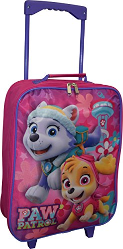 Nickelodeon Paw Patrol Girl's 15″ Collapsible Wheeled Pilot Case – Rolling Luggage