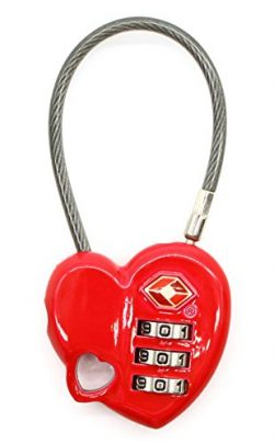 Love Lock Smartrip TSA Approved Combination Lock with Steel Cable