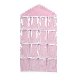 UEETEK 16 Pockets Hanging Closet Door Hanging Bag Shoe Rack Hanger Underwear Socks Bra Ties Stor ...