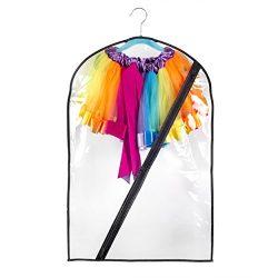 Bags for Less Dance Costume Bag Kids Durable Zipper 18×29 Transparent Storage/Transportation