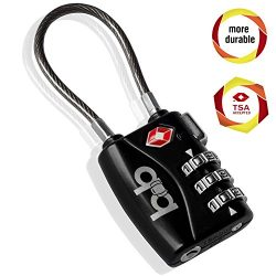 Small Combination Padlock – Travel TSA Lock – Cable Luggage Lock for Bag, Suitcase,  ...