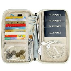 Passport Wallet Multiple Family Passport Holder Travel Document Organizer