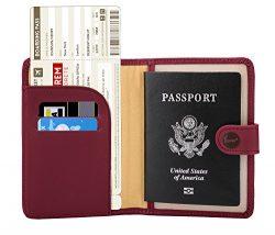 Zoppen Rfid Blocking Travel Passport Holder Cover Slim Id Card Case, #7 Wine Red / Burgundy