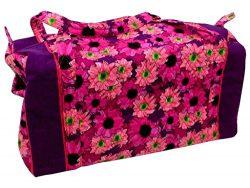 Darice DAR30022804 Fashion Bags Fabric Duffel Flrl Pink Fashion Bags Duffel Flrl Pink