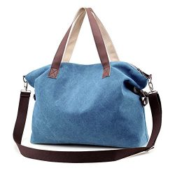Women's Handbags,LOSMILE Shoulder Bags Top Handle Beach Tote Purse Crossbody Bag (Blue)