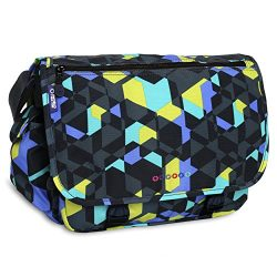 J World New York Terry Messenger Bag, Cubes, One Size