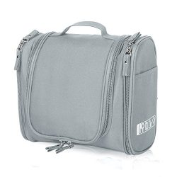 Cadtog Hanging Toiletry Bag for Travel, Cosmetic Kit, Large Essentials Organizer, Sturdy Hook, M ...