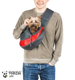 Pet Sling Carrier by Panda Pets – Small Dog Cat Sling Pet Carrier Bag Safe Reversible Comf ...
