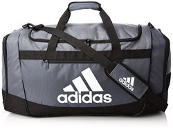 adidas Defender III large duffel Bag, Onix/Black/White, One Size