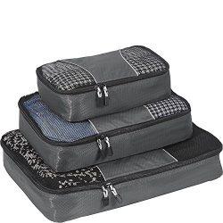 eBags Packing Cubes – 3pc Set (Titanium)