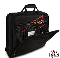 "3 Suit Carry On Garment Bag for Travel & Business Trips With Shoulder Strap 40"" Bagazz ..."