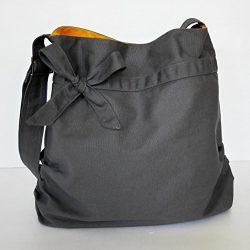 Virine grey shoulder bag, cross body bag, messenger bag, everyday bag, handbag, travel bag, tote ...