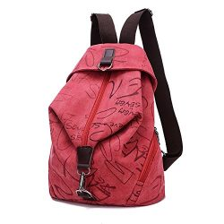 MiCoolker Canvas Backpack Sports Shoulders Bag Classic Vintage Student Satchel Bookbags Casual T ...