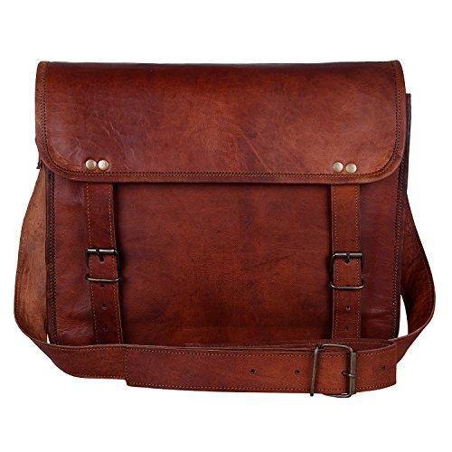 Rustic Town 13″ Genuine Leather Handmade Crossbody Messenger Satchel Laptop  Bag eb847156e4