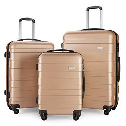 Luggage Set Spinner Hard Shell Suitcase Lightweight Carry On – 3 Piece (20″ 24″ ...