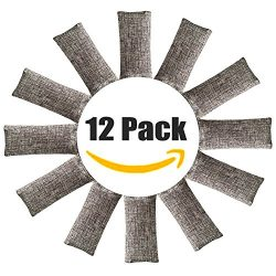 12 Pack Natural Air Purifying Bags ,Odor Remover, Shoe Deodorizer and Odor Eliminator 100% Natur ...