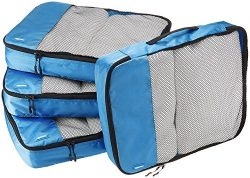 AmazonBasics 4-Piece Packing Cube Set – Large, Blue