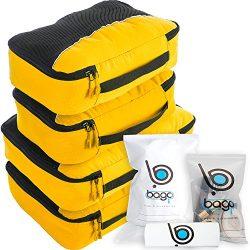 Bago Packing Cubes For Travel Bags – Luggage Organizer 10pcs Set (Yellow)
