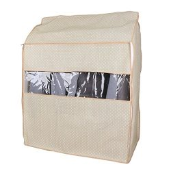 uxcell Non-woven Fabric Hanging Garment Clothing Suit Protector Storage Cover Bag 95 x 80 x 53cm ...