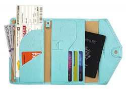 Zoppen Multi-purpose Rfid Blocking Travel Passport Wallet (Ver.4) Tri-fold Document Organizer Ho ...