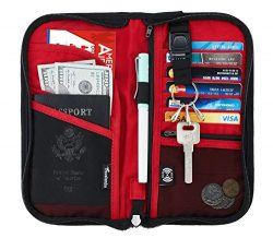 Travelambo Travel Wallet Passport Holder Wallet RFID Blocking Credit Card Holders for Men &  ...