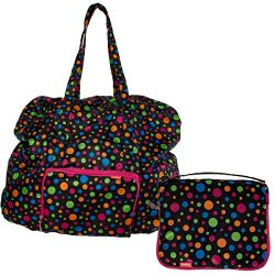 Baggallini Luggage Large Zip-Out Travel Bag, Polka Dot, One Size