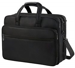 Laptop Briefcase Bag ,17 inch Durable Organizer Business Travel laptop messenger Bag,Water Resis ...