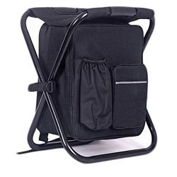 Hanerdun 3 in 1 Backpack Cooler Chair Travel Backpack Soft Sided Cooler Bag Outdoor Hiking Event ...