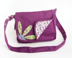 Faithgirlz Messenger Bag Grape Medium