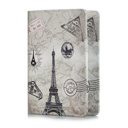 Passport Holder Travel Wallet,UUcovers Protective Premium Synthetic Leather RFID Blocking Case C ...