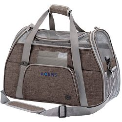 Small Dog Carrier, KQRNS Pet Carrier Airline Approved Fits Under Seat, Soft Sided Dog Carrier Ca ...